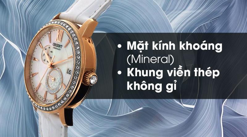 Đồng hồ nữ Orient RA-AK0004A10B - Cơ tự động có mặt kính cứng cáp, khung viền bền bỉ