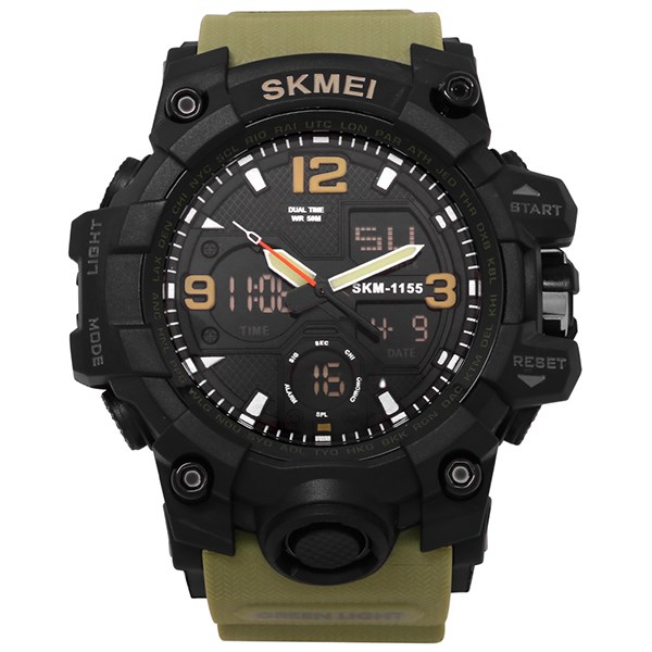 Đồng hồ Nam Skmei SK-1155B - Xanh Quân Đội