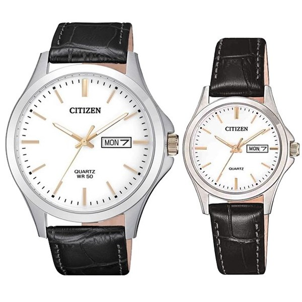Đồng hồ đôi Citizen EQ0599-11A/BF2009-11A