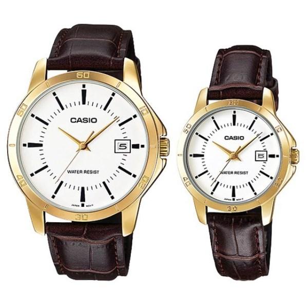Đồng hồ đôi Casio LTP-V004GL-7AUDF/MTP-V004GL-7AUDF