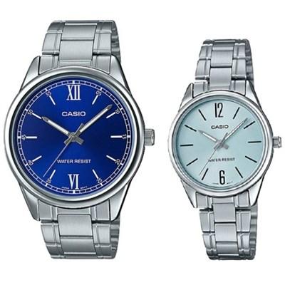 Đồng hồ đôi Casio LTP-V005D-2BUDF/MTP-V005D-2B1UDF