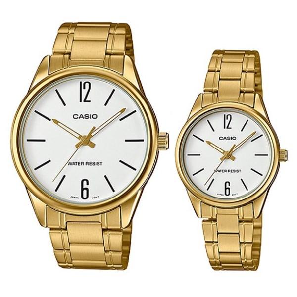 Đồng hồ đôi Casio LTP-V005G-7BUDF/MTP-V005G-7BUDF