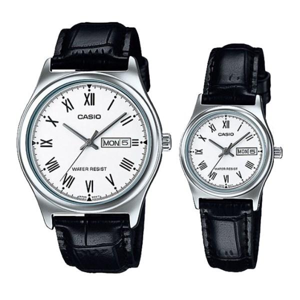 Đồng hồ đôi Casio LTP-V006L-7BUDF/MTP-V006L-7BUDF