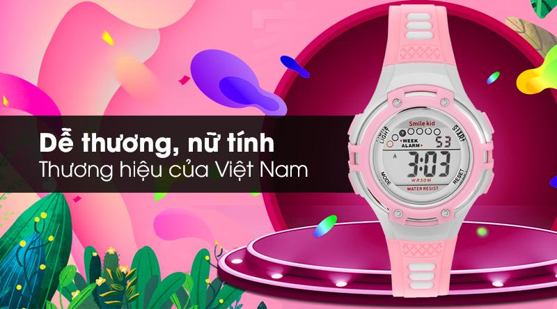 Đồng hồ trẻ em Smile Kid SL004-02 với thiết kế dễ thương, nữ tính