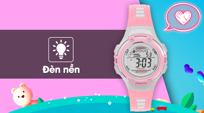 Đồng hồ trẻ em Smile Kid SL004-02 có đèn nền sáng rõ