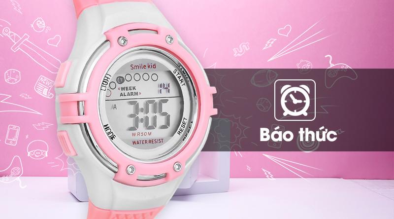 Đồng hồ trẻ em Smile Kid SL004-02 có đồng hồ báo thức tiện lợi