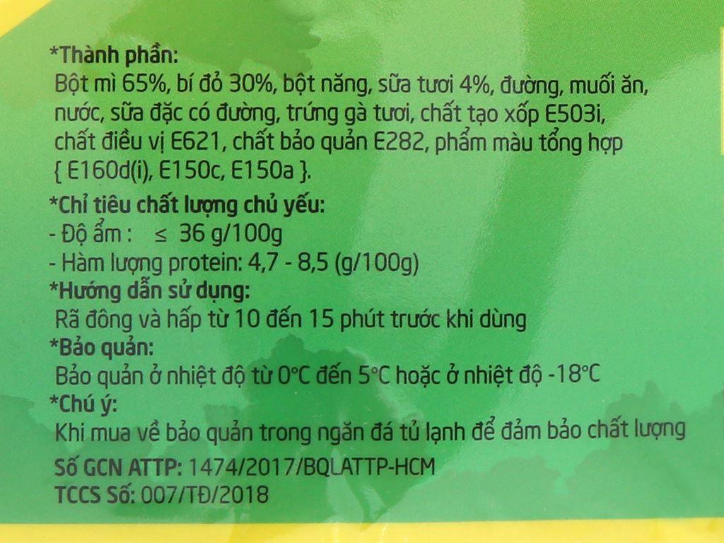 Bánh bao nhân bí đỏ sữa tươi Tuấn Đạt gói 350g 4