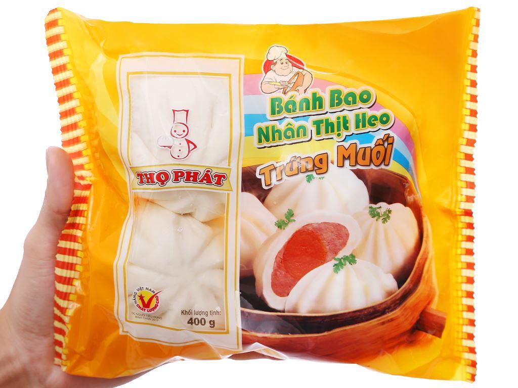 Bánh bao nhân thịt heo trứng muối Thọ Phát gói 400g 6