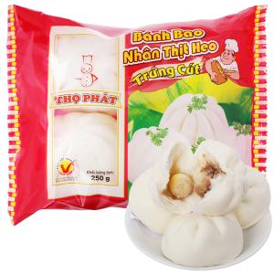 Bánh bao nhân thịt heo trứng cút Thọ Phát gói 250g