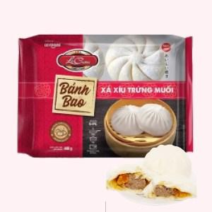 Bánh bao xá xíu trứng muối La Cusina gói 400g