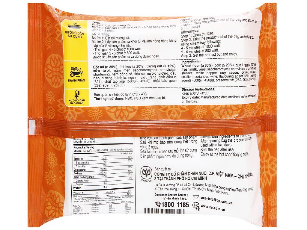 Bánh bao nhân thịt heo trứng cút C.P 320g 2