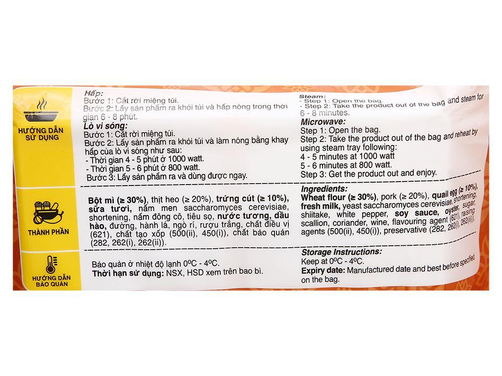 Bánh bao nhân thịt heo trứng cút C.P 320g 3