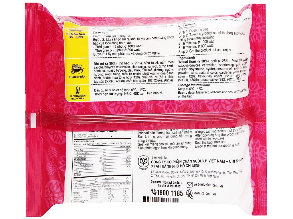 Bánh bao nhân thịt heo bbq C.P gói 320g 2