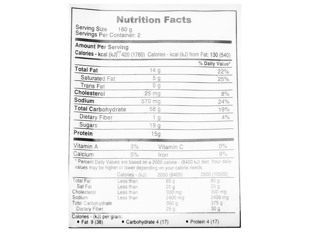 Bánh bao nhân thịt heo bbq C.P 320g 5
