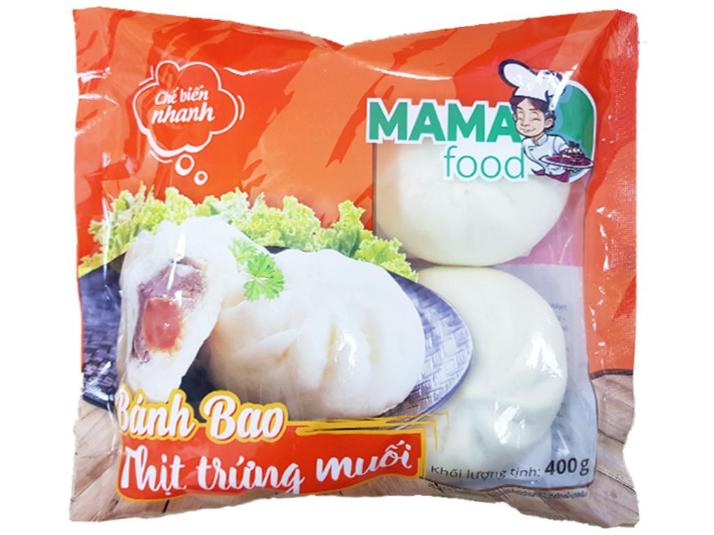 Bánh bao nhân thịt heo trứng muối Mama Food gói 400g 1