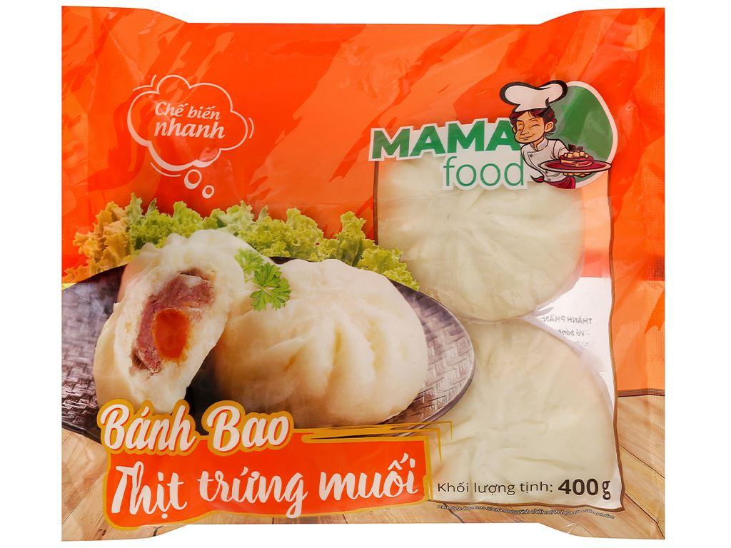 Bánh bao nhân thịt heo trứng muối Mama Food gói 400g 2