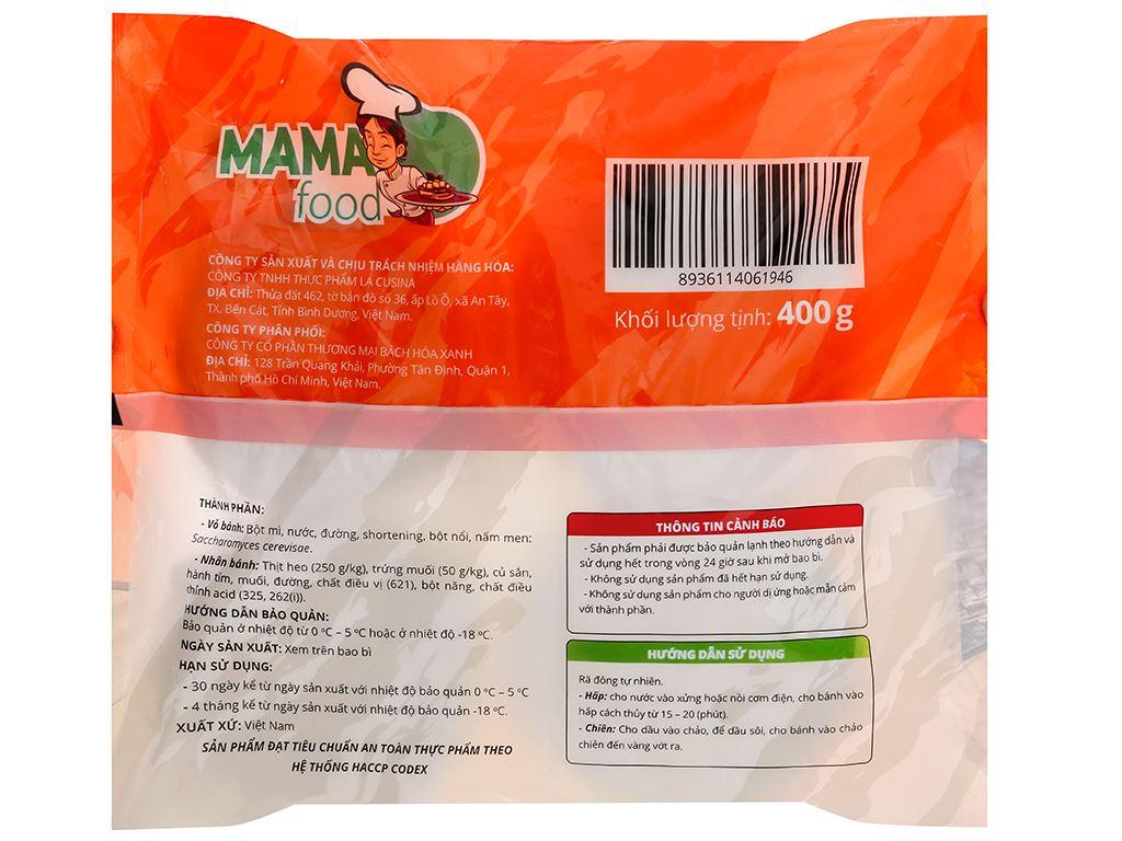 Bánh bao nhân thịt heo trứng muối Mama Food gói 400g 3
