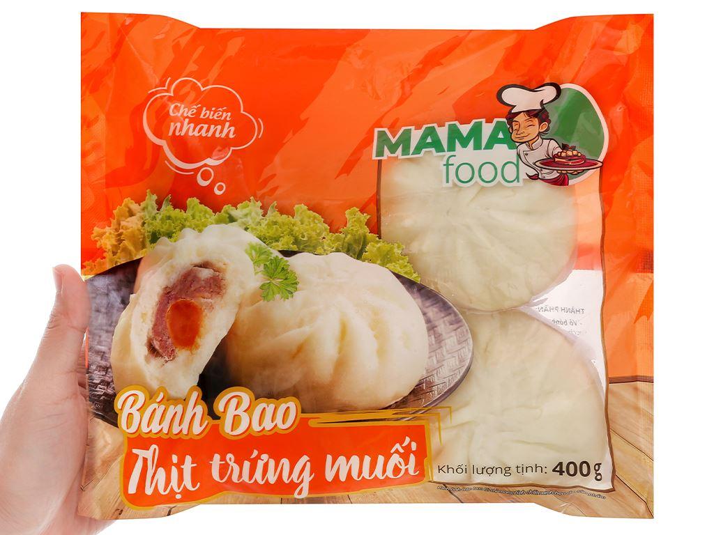 Bánh bao nhân thịt heo trứng muối Mama Food gói 400g 5