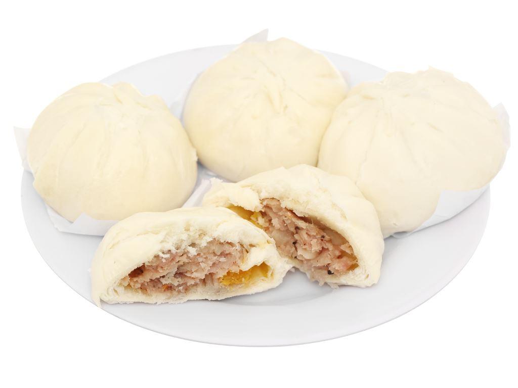 Bánh bao nhân thịt heo trứng muối Mama Food 400g 7