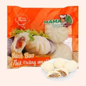 Bánh bao nhân thịt heo trứng muối Mama Food gói 400g