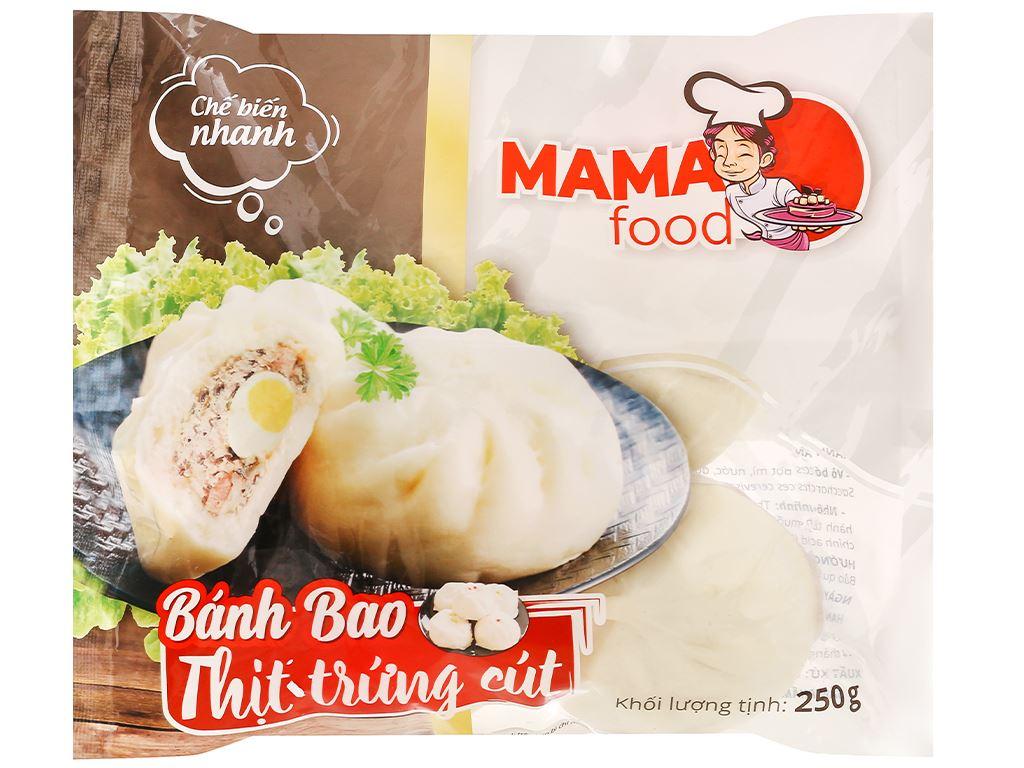 Bánh bao nhân thịt heo trứng cút Mama Food gói 250g 1