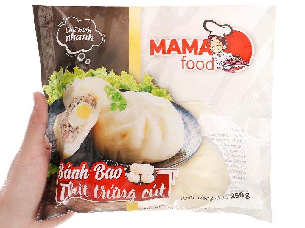 Bánh bao nhân thịt heo trứng cút Mama Food gói 250g 4