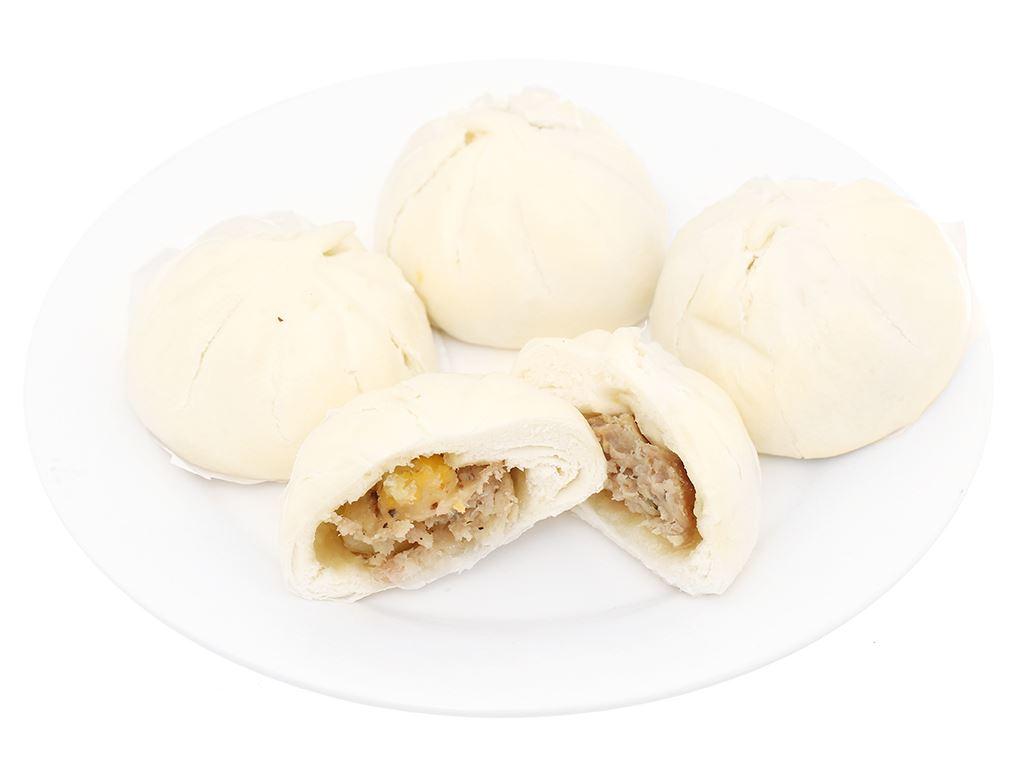 Bánh bao nhân thịt heo trứng cút Mama Food gói 250g 6