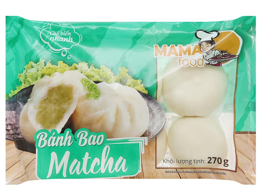 Bánh bao trà xanh Mama Food gói 270g 1