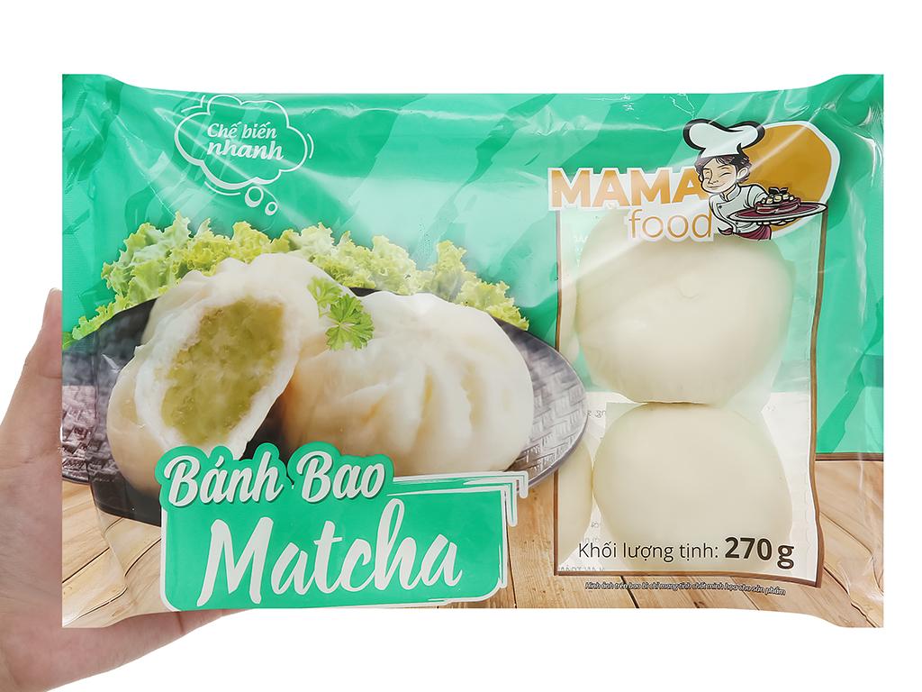 Bánh bao trà xanh Mama Food gói 270g 5
