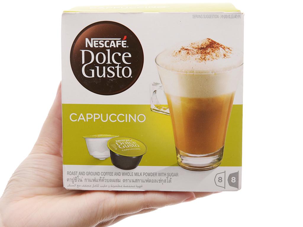 NesCafé Dolce Gusto Cappuccino 186.4g (6.3g x 8 viên cà phê, 17g x 8 viên sữa) 2