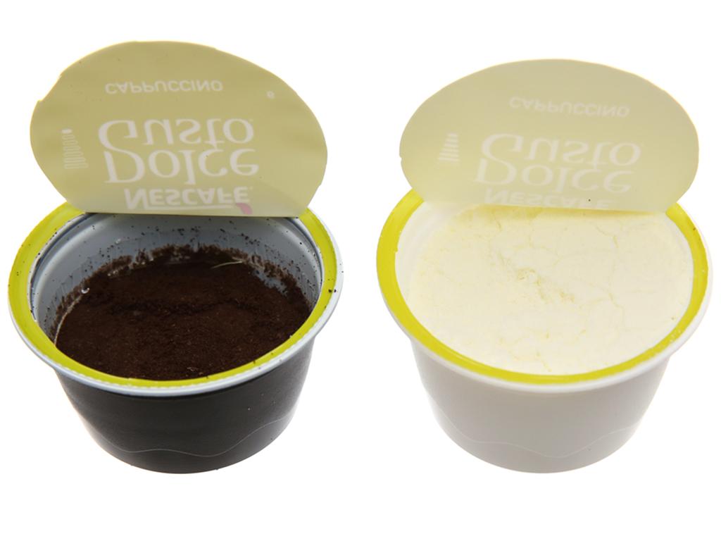 NesCafé Dolce Gusto Cappuccino 186.4g (6.3g x 8 viên cà phê, 17g x 8 viên sữa) 5