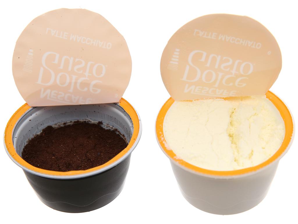 NesCafé Dolce Gusto Latte Macchiato 194.4g (17.8g x 8 viên sữa, 6.5g x 8 viên cà phê) 5