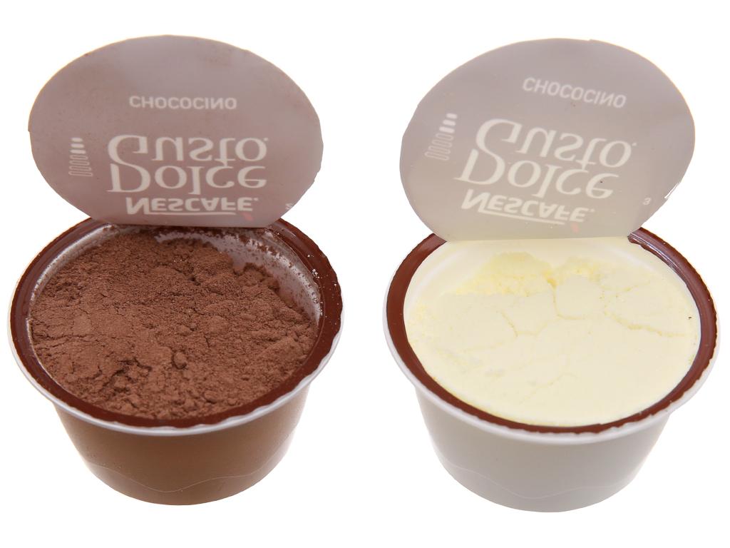 16 viên nén NesCafé Dolce Gusto Chococino socola sữa 270.4g (17.8g x 8 viên nâu vàng, 16g x 8 viên trắng) 4