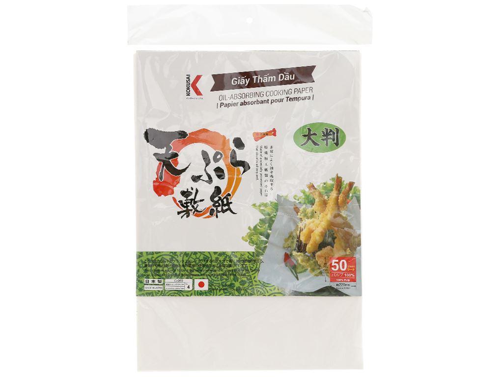 Giấy thấm dầu Kokusai 30.9x22cm (50 tờ) 1