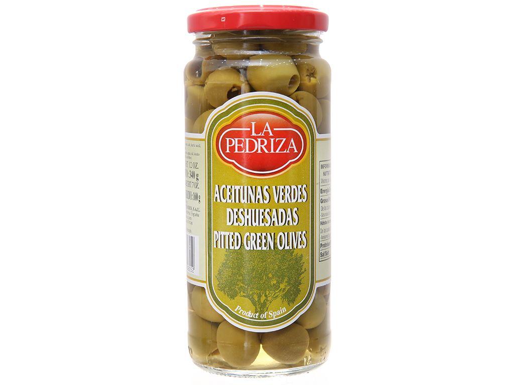 Oliu xanh tách hạt La Pedriza hũ 340g 2