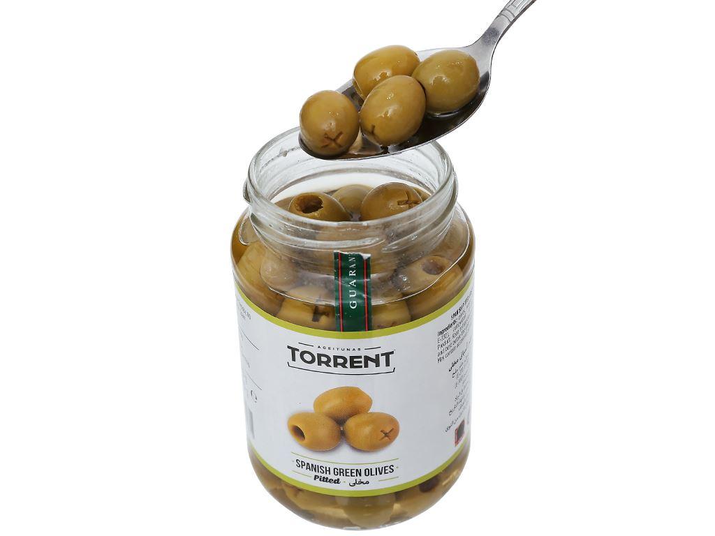 Oliu xanh tách hạt Torrent hũ 370g 5