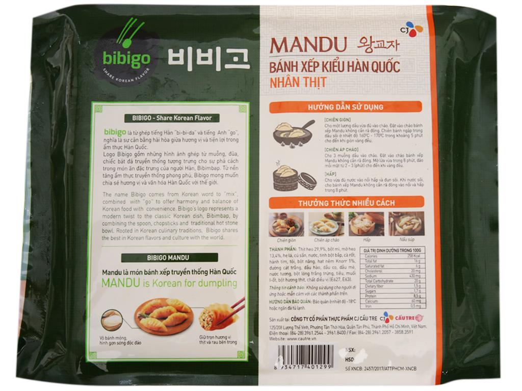 Bánh xếp Hàn quốc Bibigo nhân thịt 350g 2