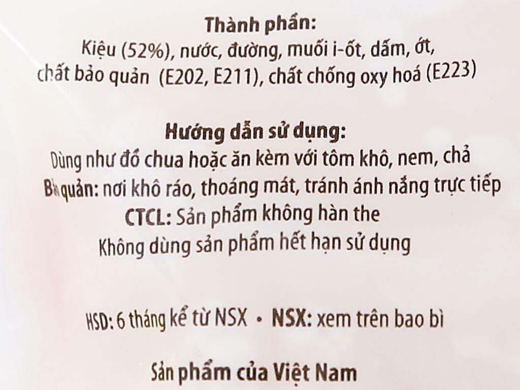 Kiệu ngâm chua ngọt Sông Hương gói 120g 3