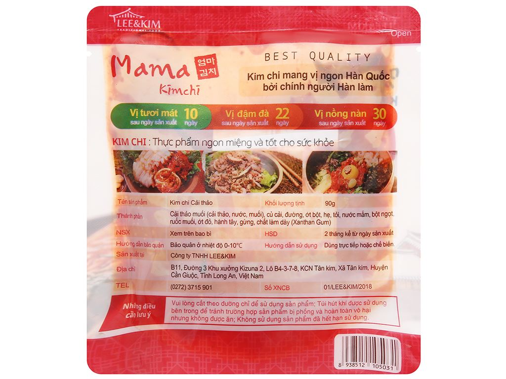 Kim chi cải thảo Mama gói 90g 2