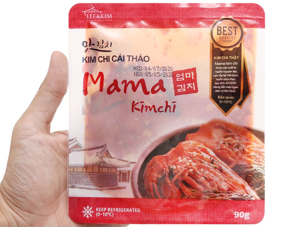 Kim chi cải thảo Mama gói 90g 4