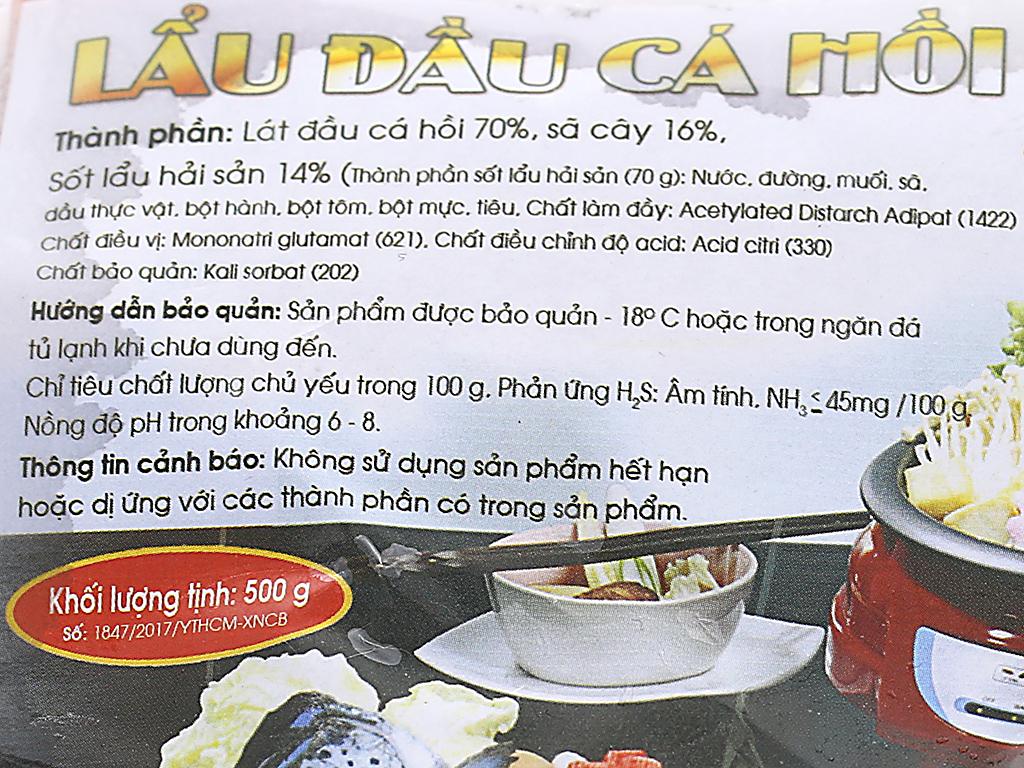 Lẩu đầu cá hồi Phi Long khay 500g 2