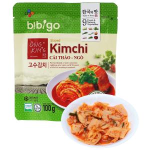 Kim chi cải thảo ngò Bibigo Ông Kim's gói 100g