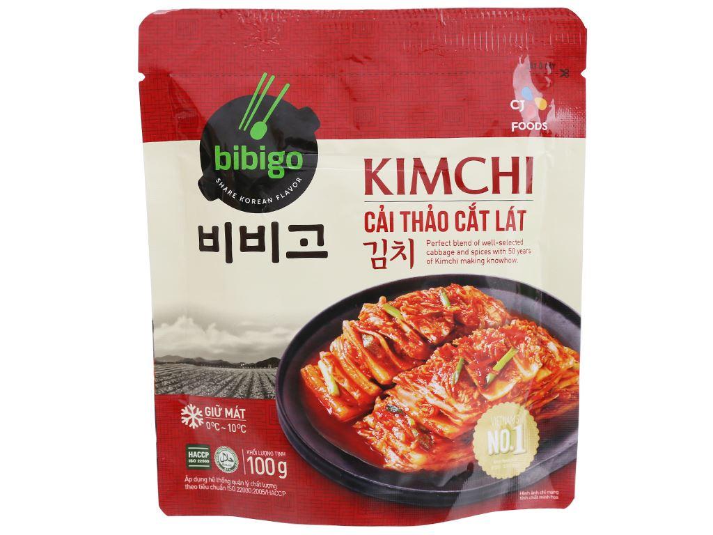 Kim chi cải thảo cắt lát Bibigo Ông Kim's gói 100g 1