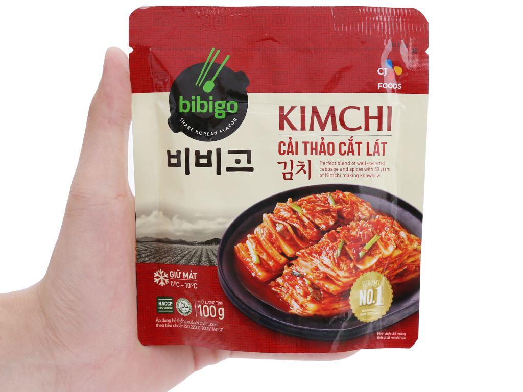Kim chi cải thảo cắt lát Bibigo Ông Kim's gói 100g 4