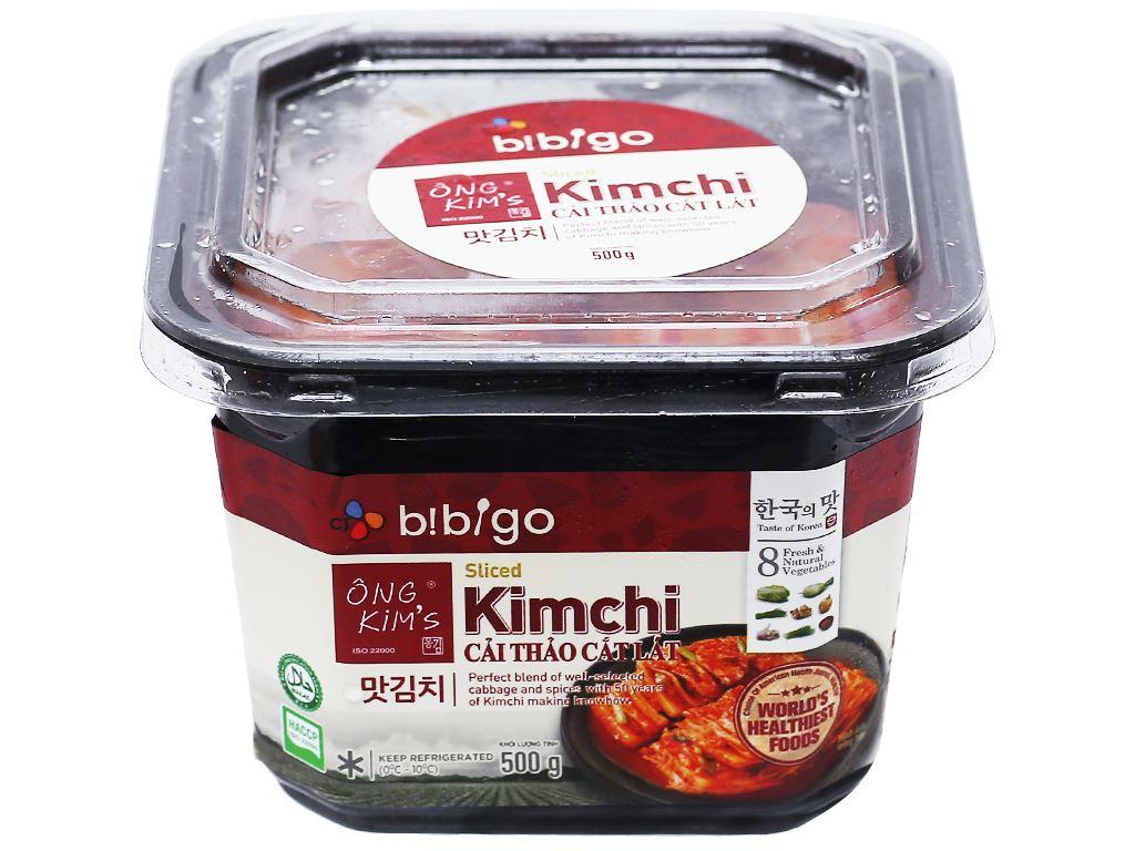 Kim chi cải thảo cắt lát Bibigo Ông Kim's hộp 500g 1