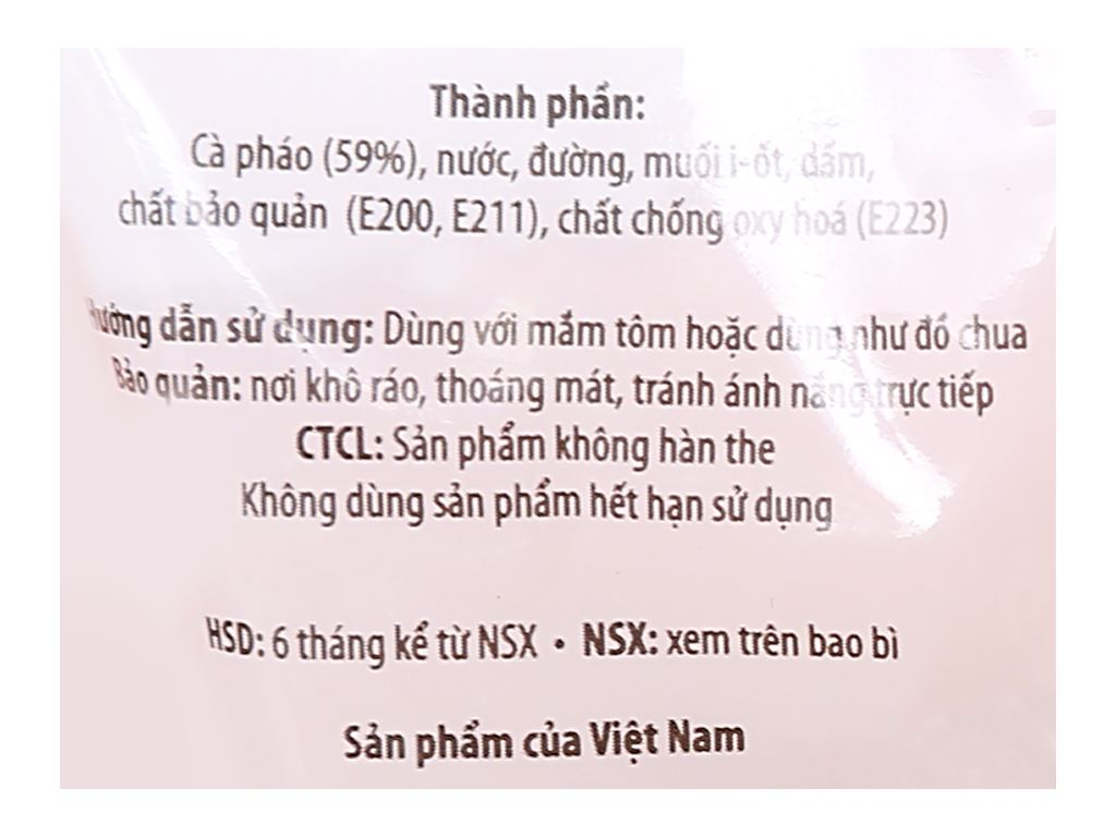 Cà pháo ngâm chua ngọt Sông Hương gói 120g 3