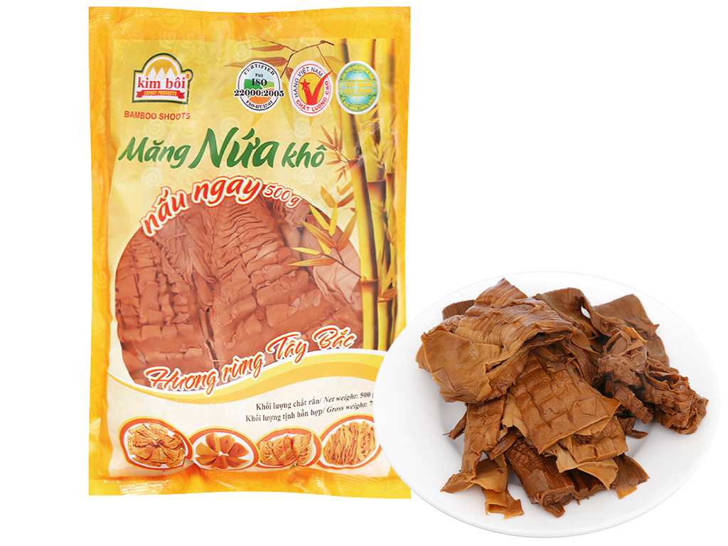 Măng nứa khô Kim Bôi gói 500g 1