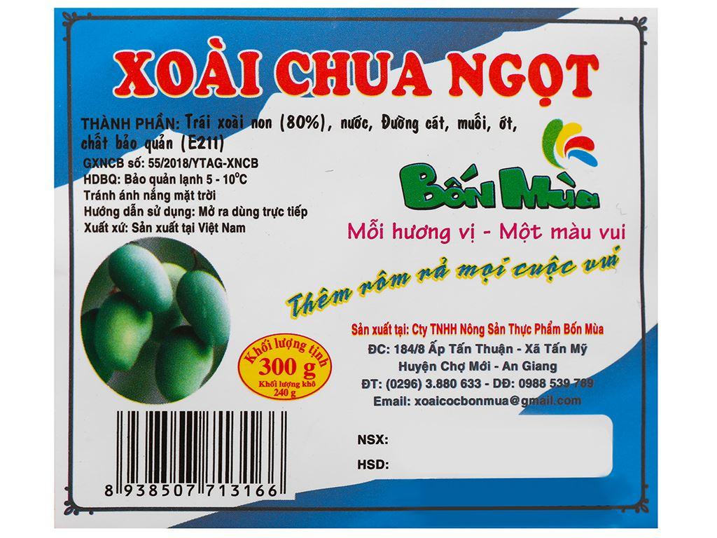 Xoài ngâm chua ngọt Bốn Mùa gói 300g 3