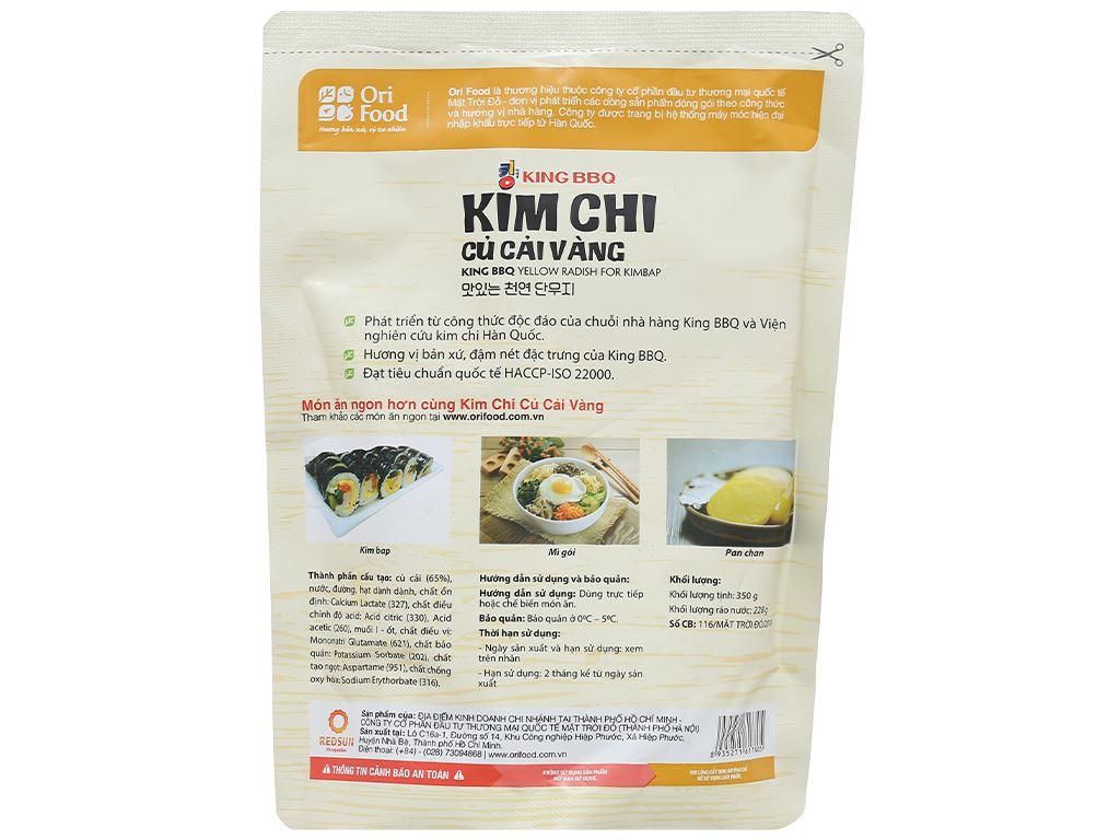 Kim chi củ cải vàng Orifood gói 350g 2