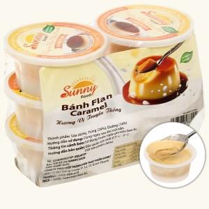 Lốc 6 hũ bánh flan vị truyền thống Sunny 55g